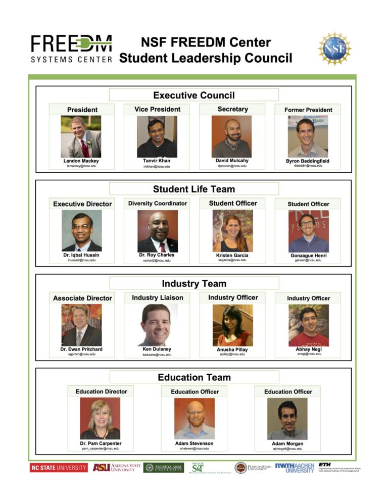 FREEDM Systems Center Student Leadership Council 2016